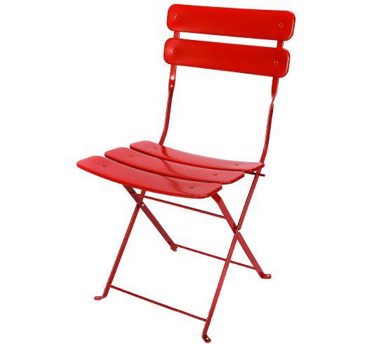 Chaise de Jardin Pliante Rouge Mat | Jardin et terrasse | Folding ...