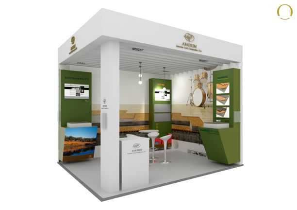 Exhibition Stand Assembly : Design assembly and dismantling stand amorim cork