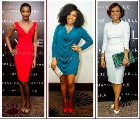 Nollywood Celebrities at Maybelline Lagos Launch – Who's Best Dressed ?