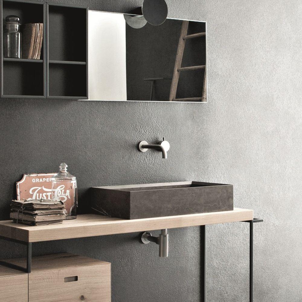 lavabo bagno pietra naturale da appoggio design moderno novello