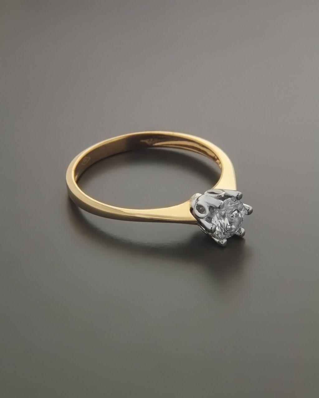 Μονόπετρο δαχτυλίδι ροζ χρυσό   λευκόχρυσο Κ14 με Ζιργκόν ... bb726c71f56