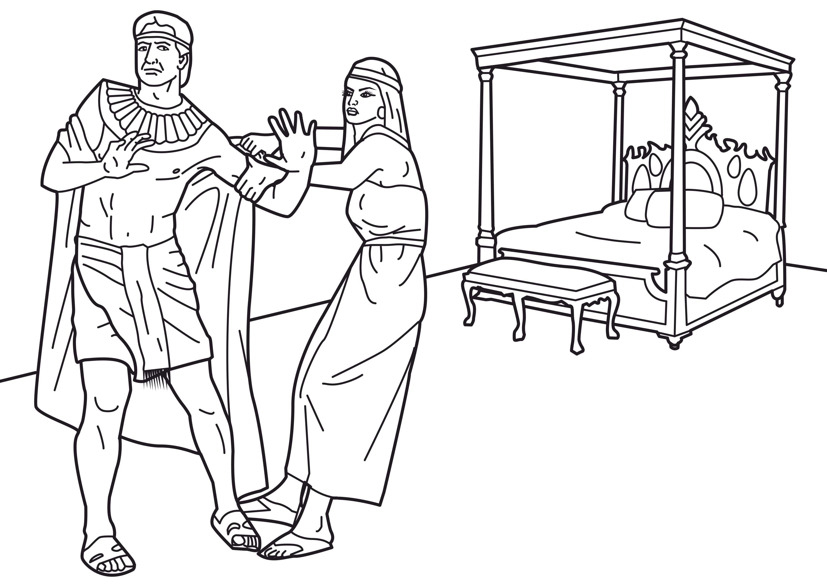 Resist Temptation Coloring Page Coloring Pictures Joseph In Egypt Coloring Pages