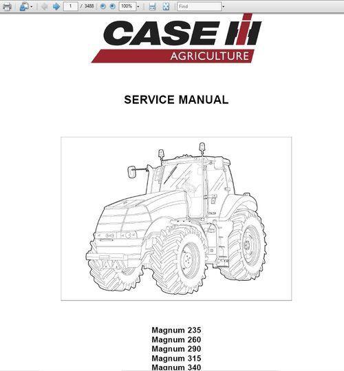 Case Magnum 235 260 290 315 340 tractor Service Manual