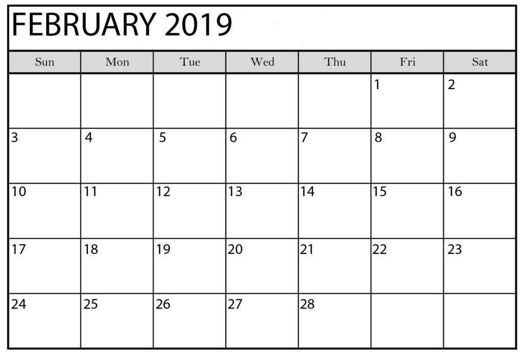 Downloadable February 2019 Calendar Editable February 2019 Calendar with Holidays   250+ February 2019