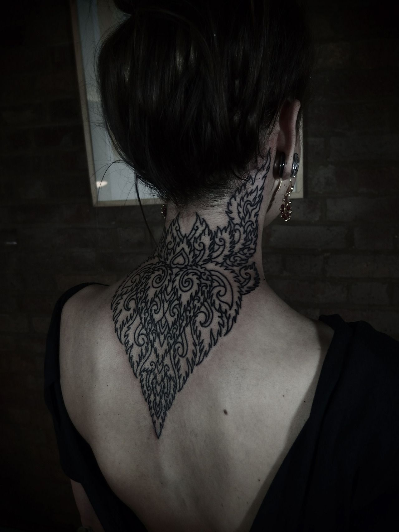 Good Back Of Neck Tattoos Tumblr 1000+ Images About Tattoo On Pinterest |  Brighton Uk, Wings And Hamsa