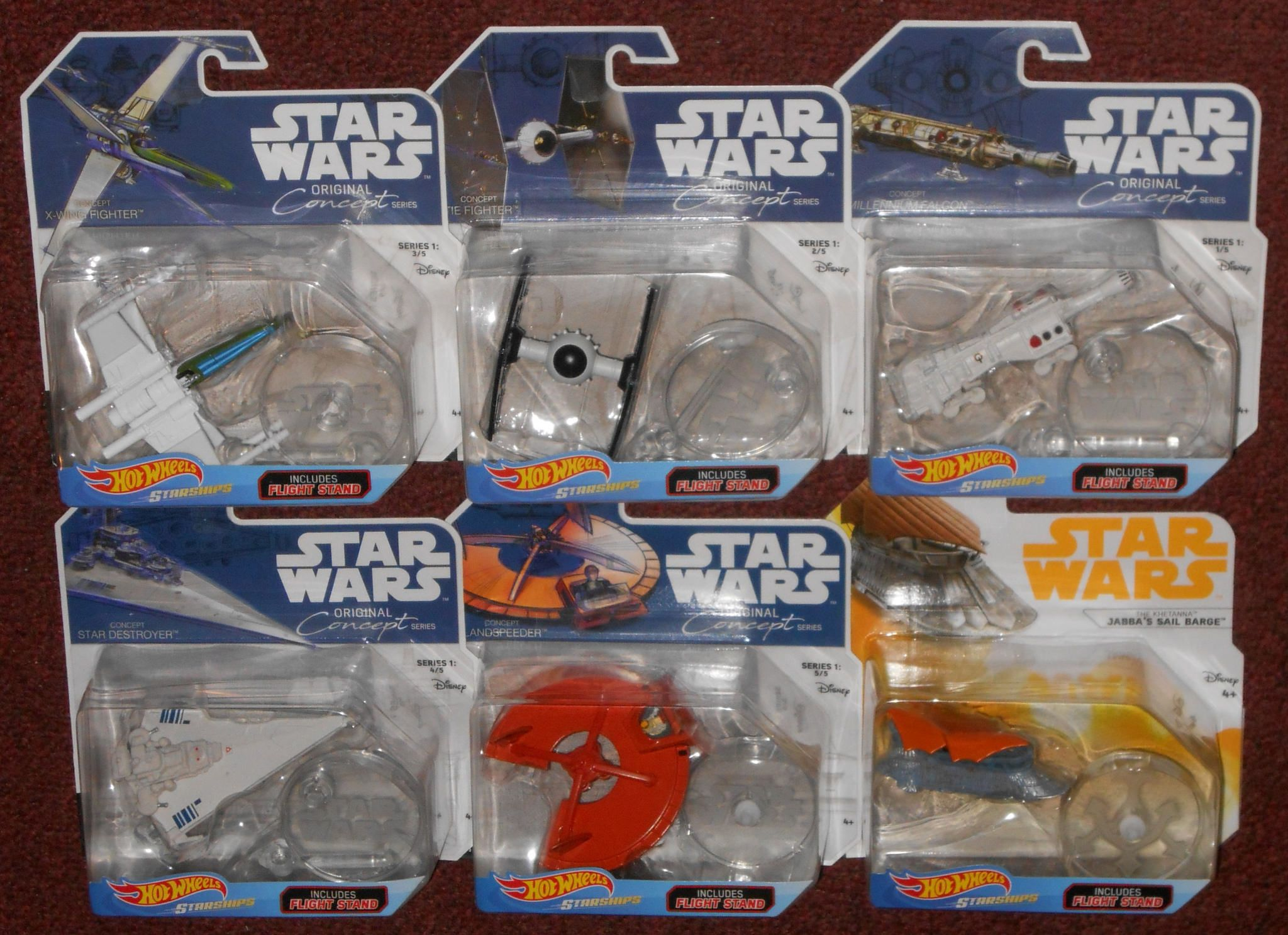 Hot Wheels Original Concept Series Star Wars Toys Star Wars Collection X Wing Fighter