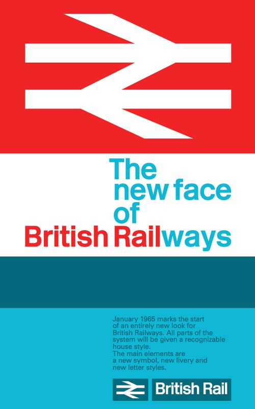 British Rail's double-arrow logo, by the Design Research Unit