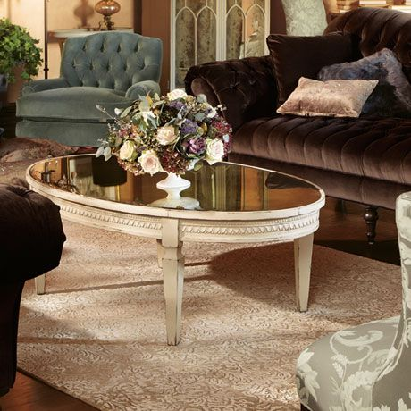 Mirrored Coffee Table Amelia Collection Arhaus Furniture My