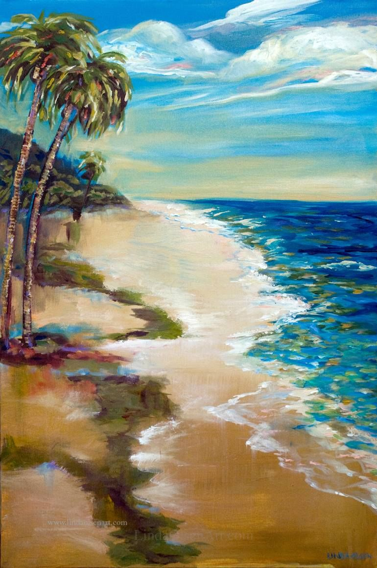 A landscape painting I created after visiting the Dominican Republic. I loved the colors of the ocean and the fact that I rarely saw any people on the beach.