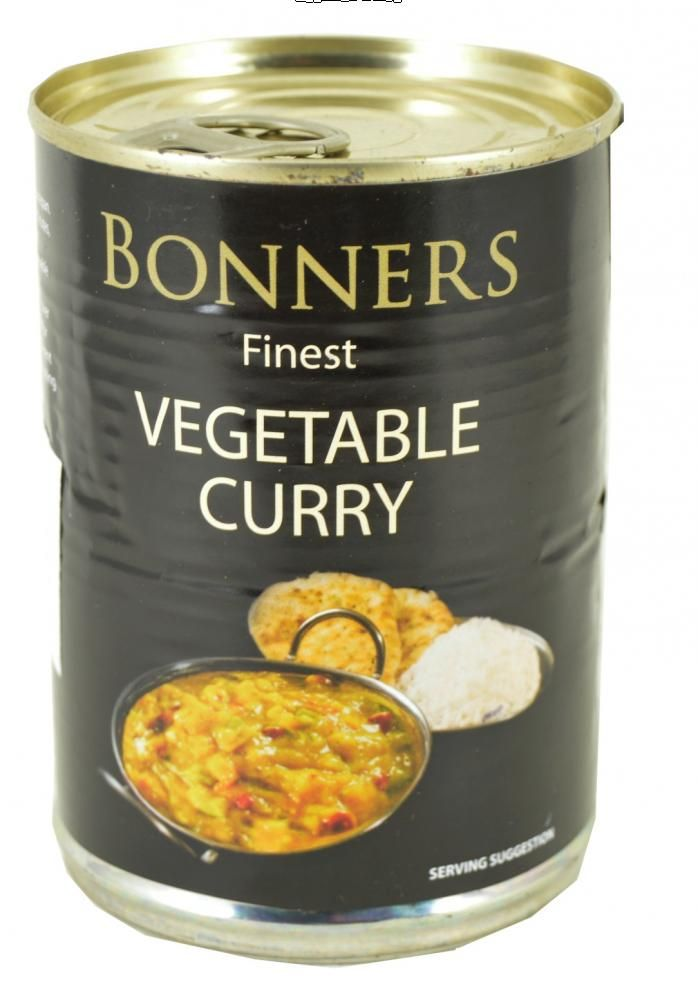 Bonners Finest Vegetable Curry Canned Food Food Food Hacks