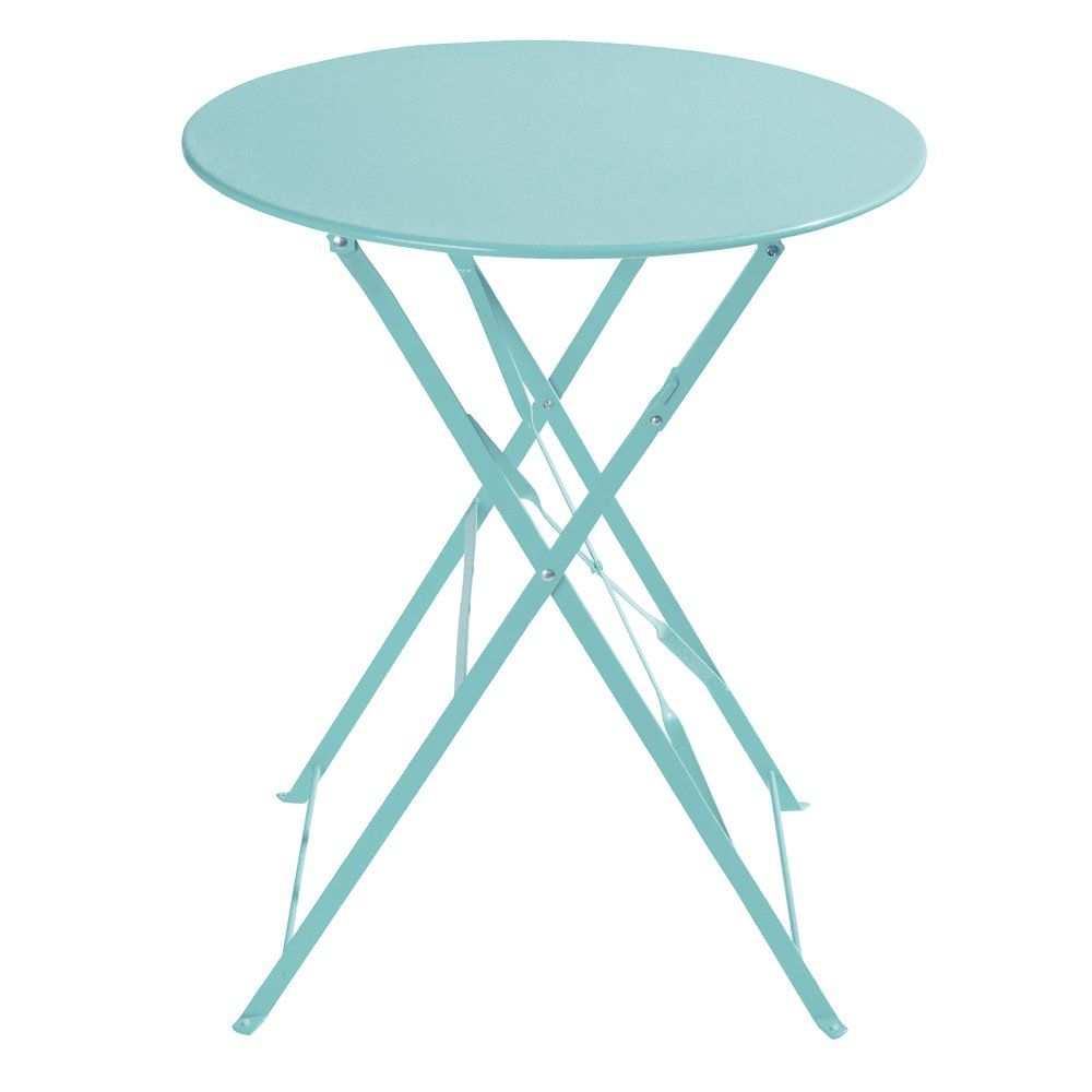 Table De Jardin Pliante En Metal Turquoise D58 Table De Jardin