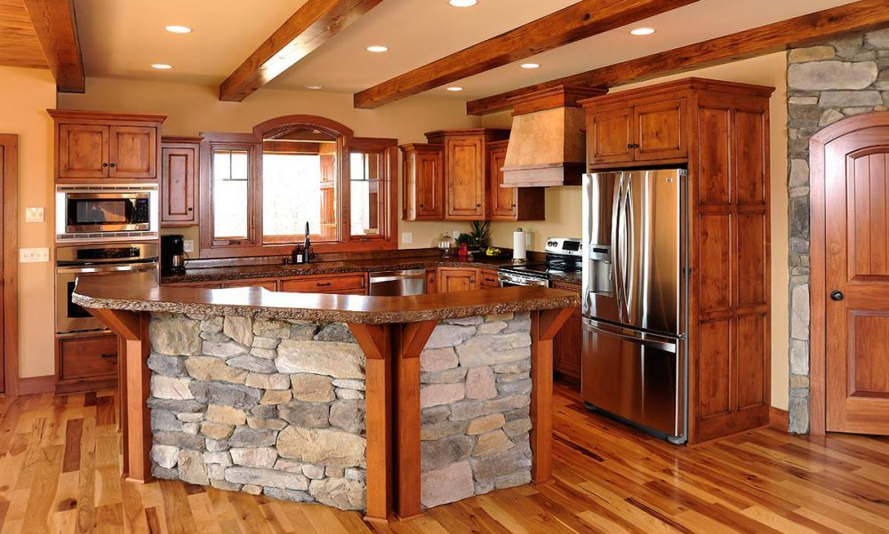 Best Mullet Cabinet Rustic Knotty Alder Kitchen Cabinets 640 x 480