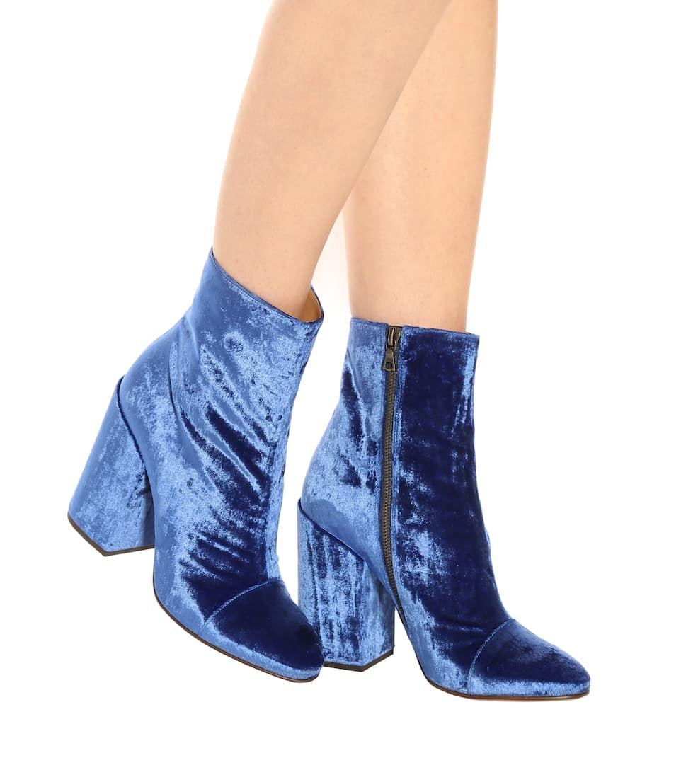5206ddf0d9 Dries Van Noten - Velvet ankle boots