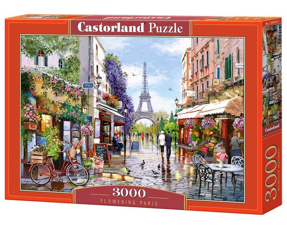 Puzzle Castor 3000 Kwiaty W Paryzu Flowering Paris City Puzzle Family Puzzles Puzzle