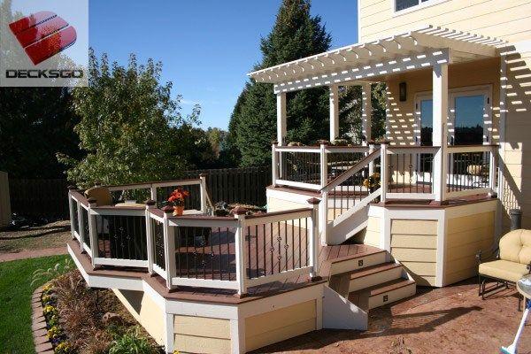 Multi Level Deck Pergola Photo Pergola Deck With Pergola Outdoor Pergola
