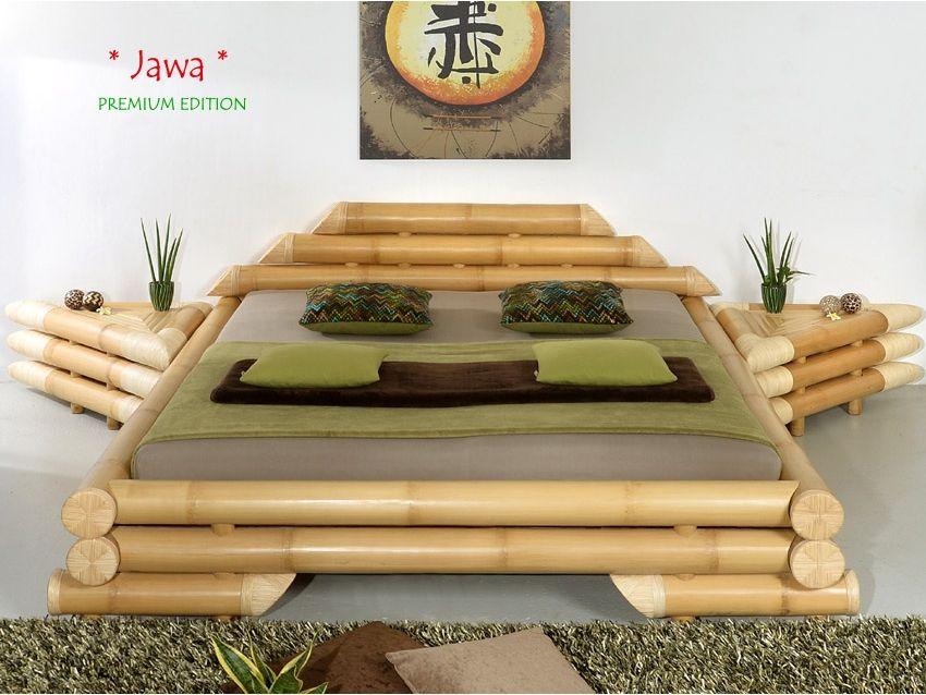 JAWA Bambusbett PREMIUM EDITION Muebles de bambú