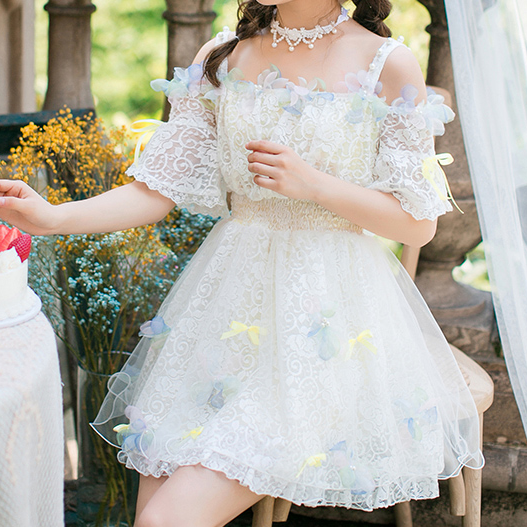 "Sweet lolita bowknot lace tutu dress SE10095 Coupon code ""cutekawaii"" for 10% off"