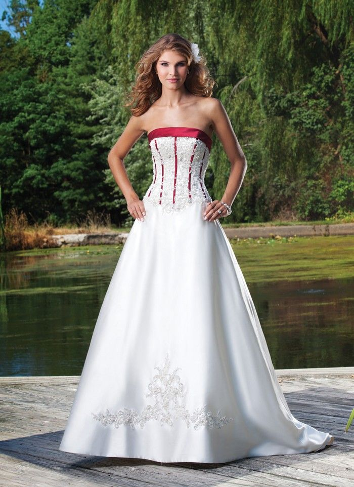 White and red bridesmaid dresses tumblr top 50 white and for Simple corset wedding dresses