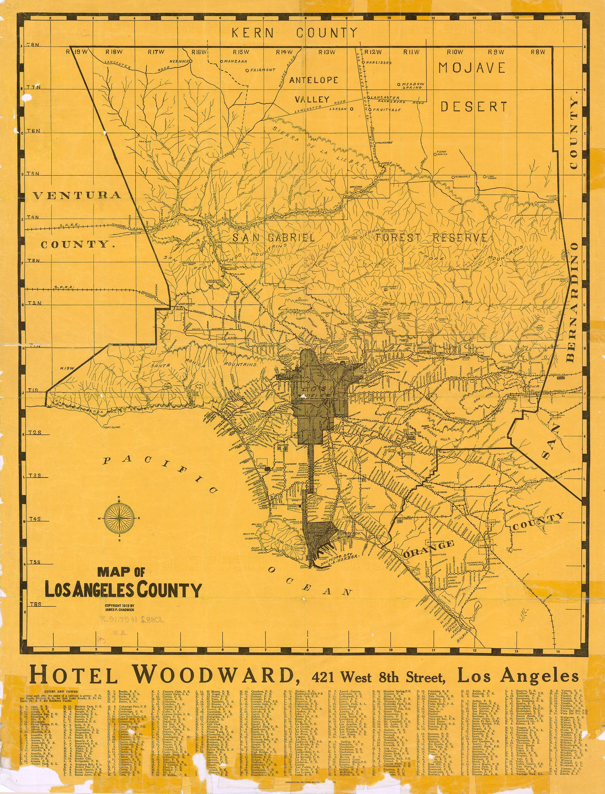 La County Rail Map 1928 Map Los Angeles Los Angeles County