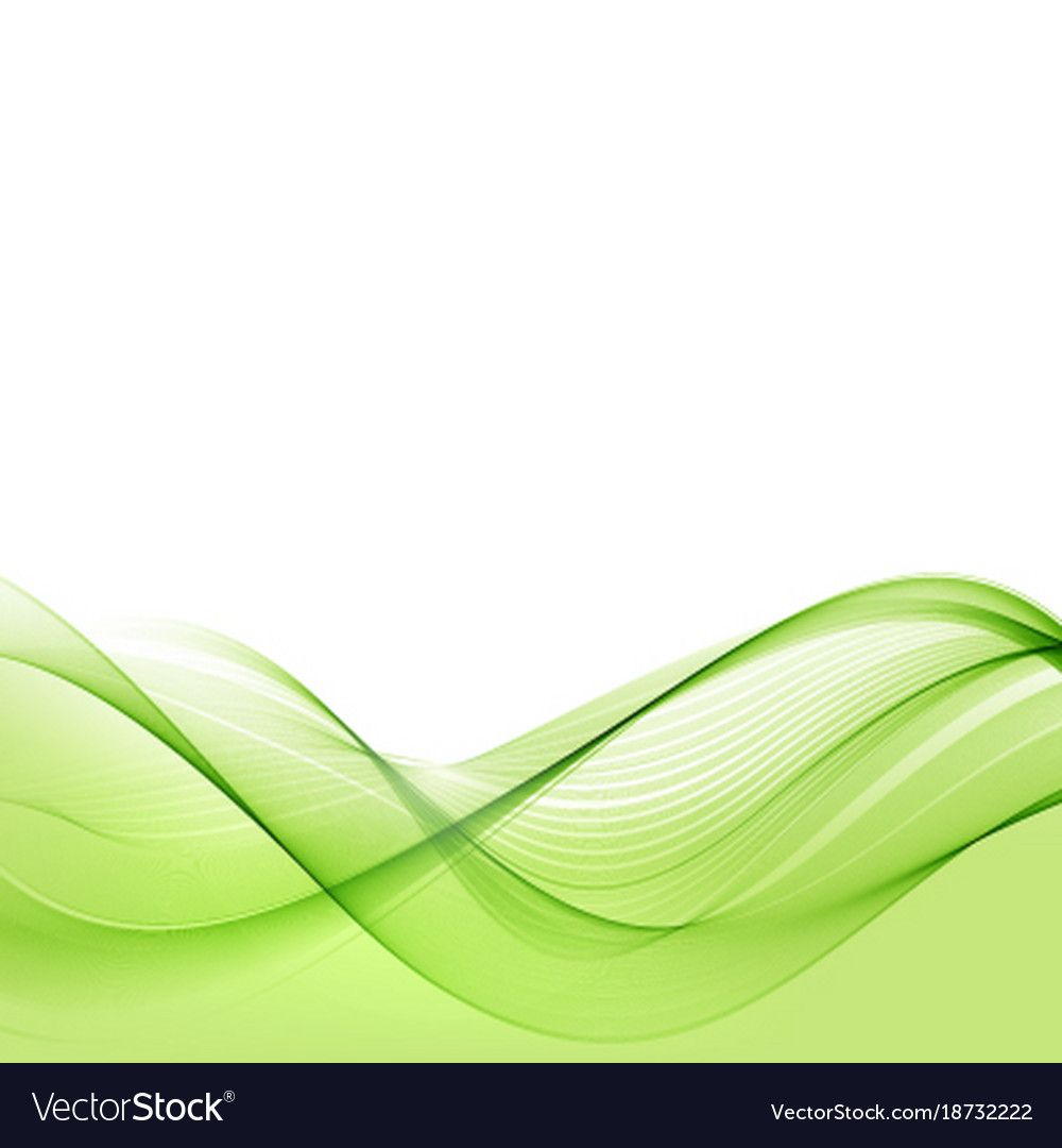 Bright Green Waves Abstract Background Vector Image On