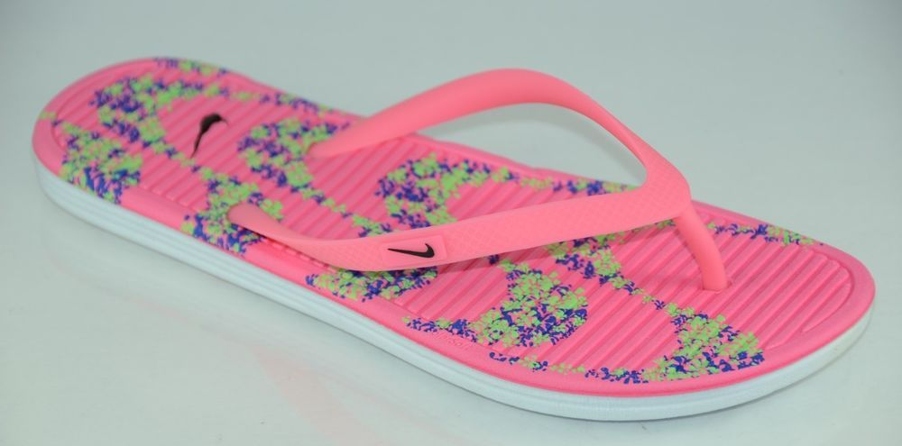 a6448c60987bec Nike Solarsoft II Women s Beach Sandals Flip Flop Slippers Thong Pink Multi  NWT