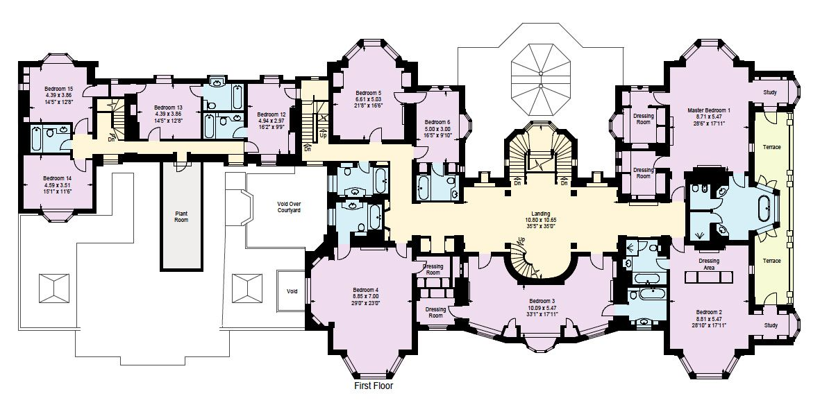 Courtyard house dream home pinterest hall courtyard for Castle house plans with courtyard