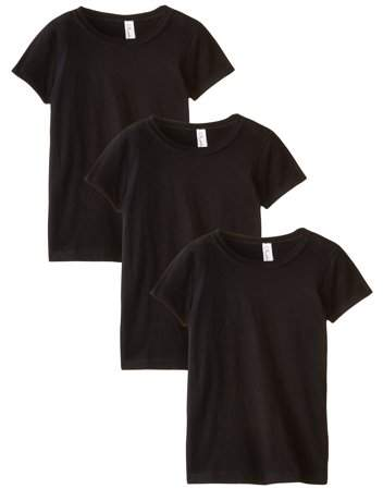 fba877a0 Clementine Apparel Girls Clementine Three-Pack Everyday Crewneck T-Shirts ( Pack of 3)