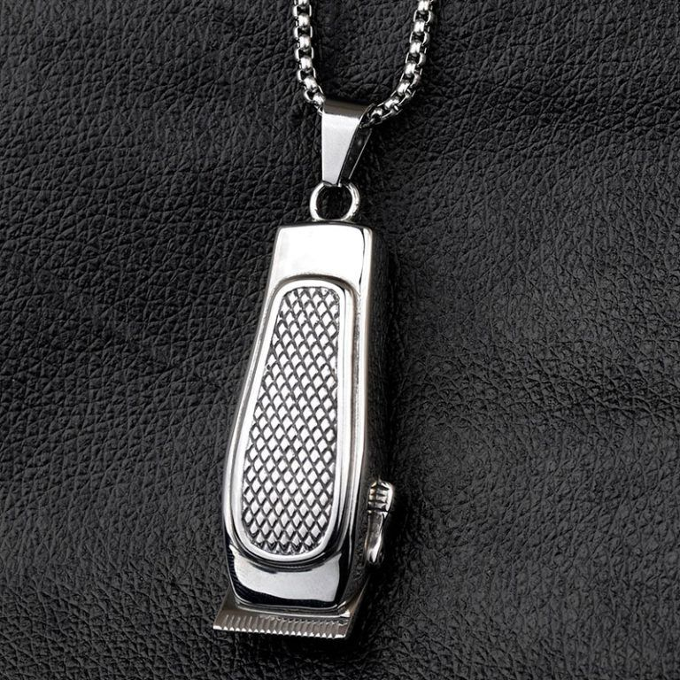 Hair Clipper Necklace In 2020 Hair Clippers Black Gold Jewelry Barber
