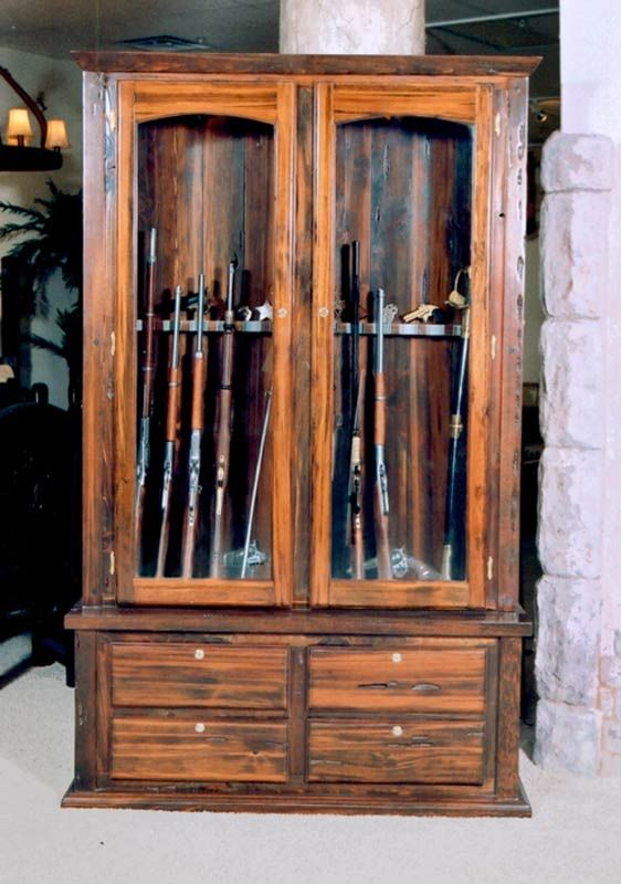 - Gun Cabinet Wooden Surround
