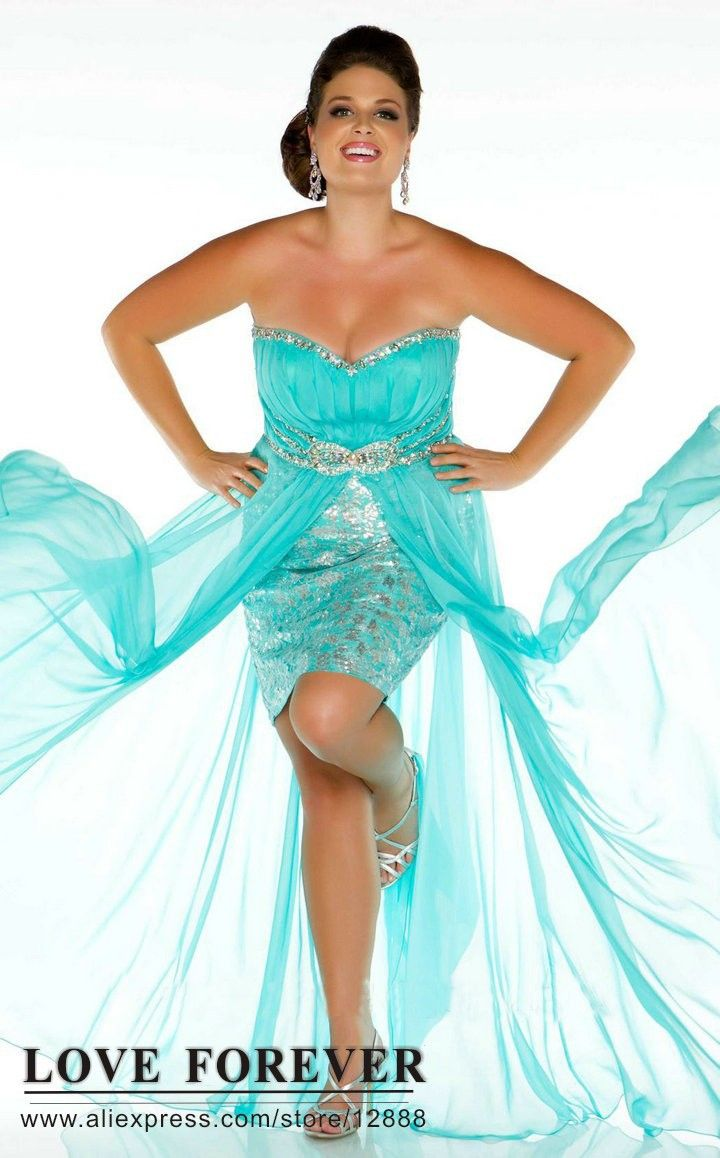 The best selling hot pink blur front short long back plus size prom