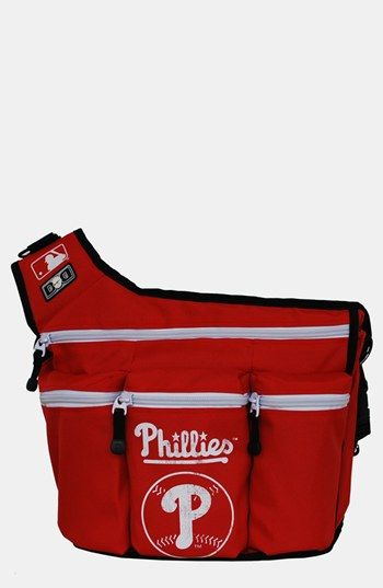 Diaper Dude 'Philadelphia Phillies' Messenger Diaper Bag available at #Nordstrom For Daddy