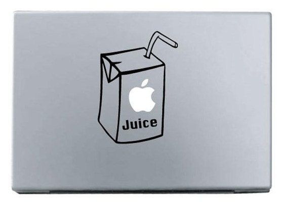 Apple juice macbook decal macbook stickers ipad by nicolelive 6 38
