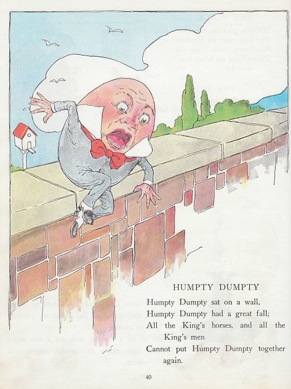 Great Vintage Nursery Rhyme Ilration And Led Humpty 34 Best Mother Goose