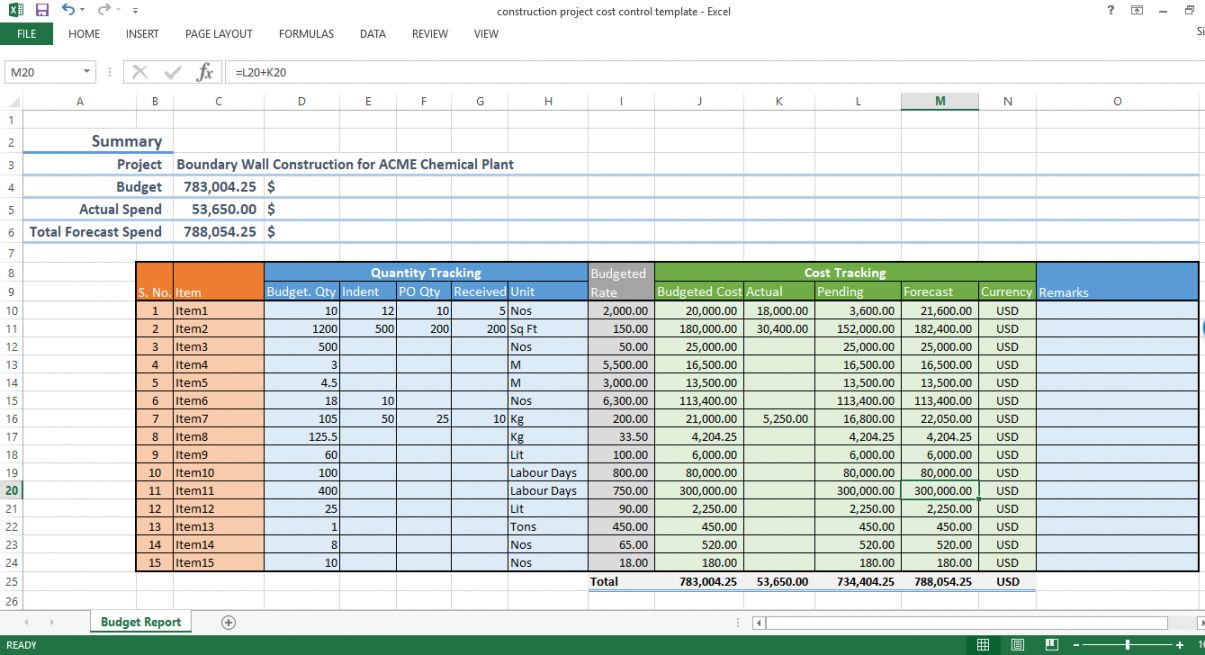 Template For Construction Project Management In 2021 Cost Control Excel Templates Budget Planning Construction project management excel template