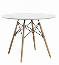 hometrends Round Wood Table