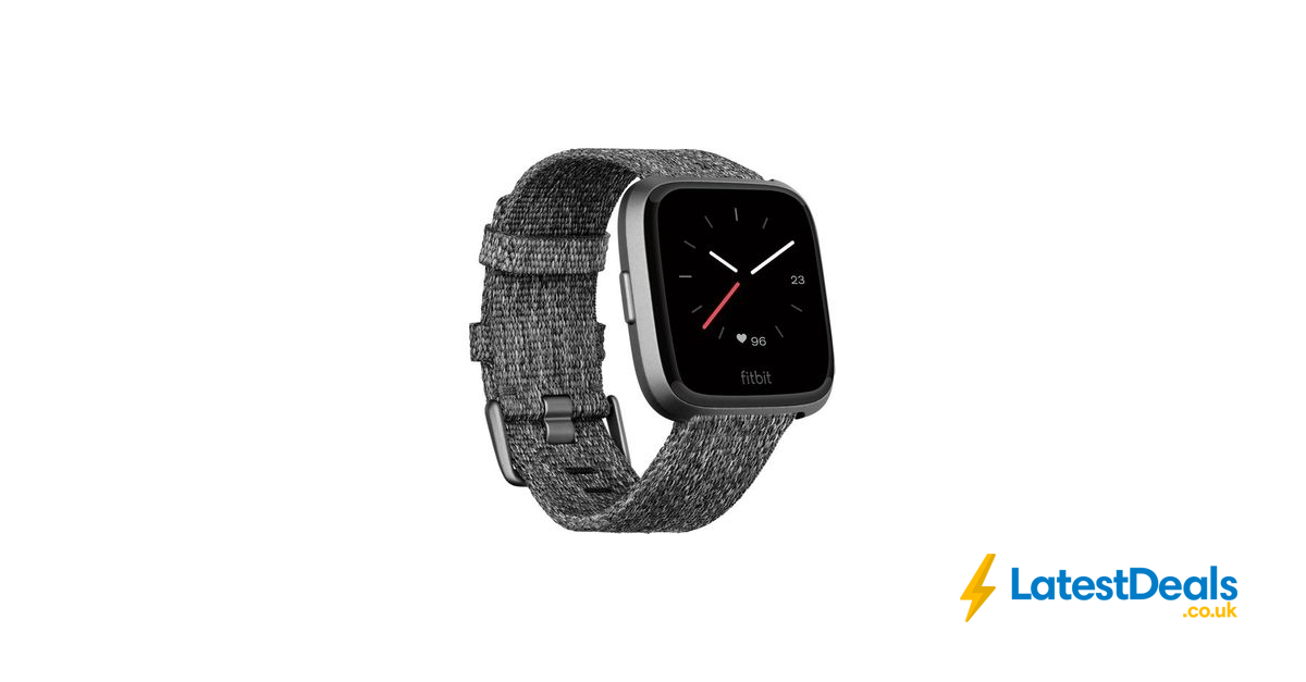 NEW FITBIT Versa Special Edition Smartwatch - Charcoal, £188