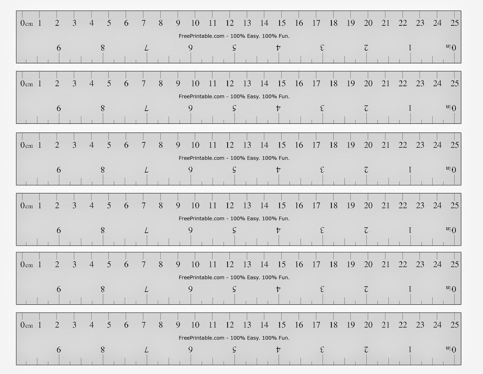 It is a photo of Inventive Metric Ruler Printable