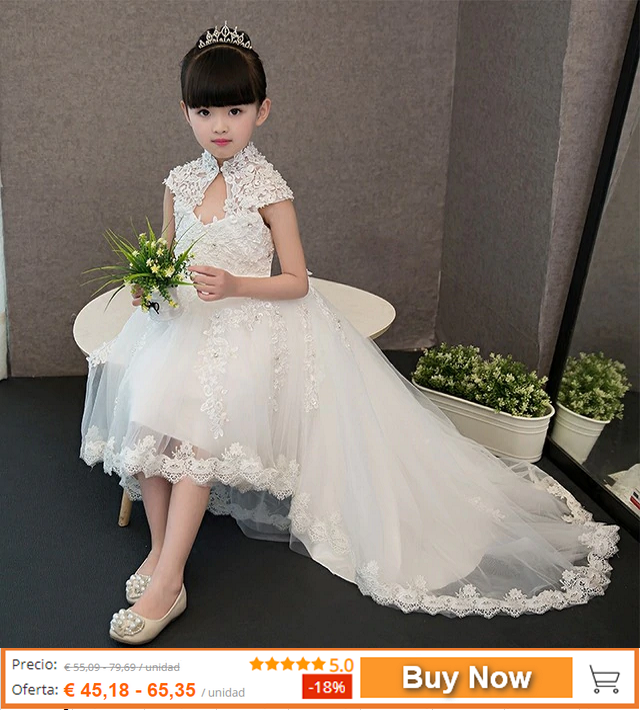 8b5efa4a23c0 New Arrival 2019 Snow White Princess Lace Dress For Girls Kids Children  Wedding Birthday Party Pageant Dress With Beautiful Tail.