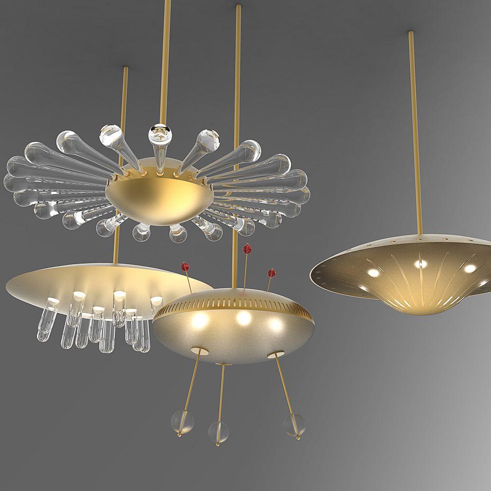 Neben Gläsern gibt es auch futuristische Lampen in der traditionsreichen Glasmanufaktur J. & L. Lobmeyr Wien 1823 | creme wien