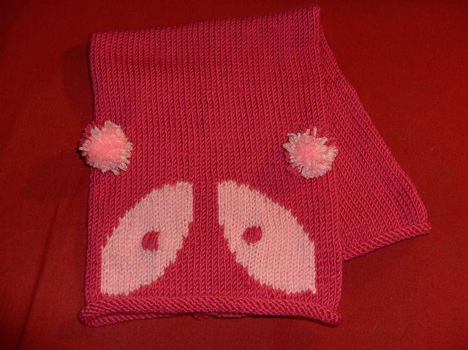 Childrens panda necker / snood /cowl knitting pattern | Panda ...