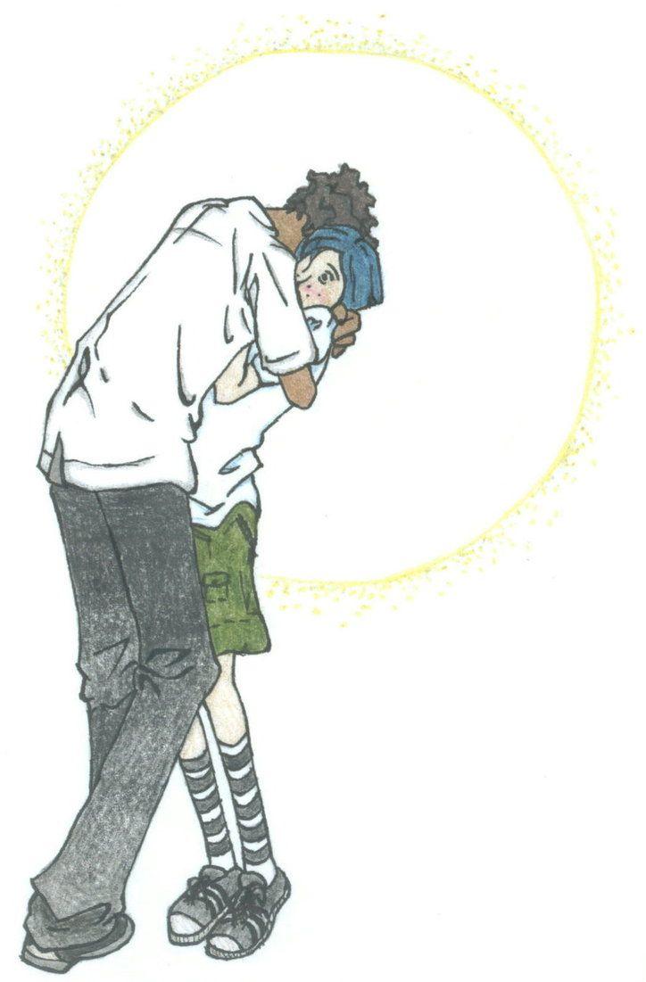 It S Hard For Tall Guys To Hug Coraline And Wybie Coraline Jones Coraline
