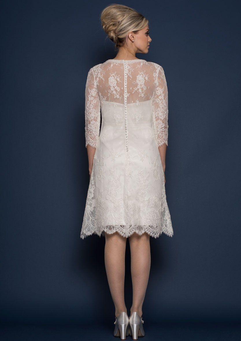 lostar Knee length classic Sixties style silk duchess