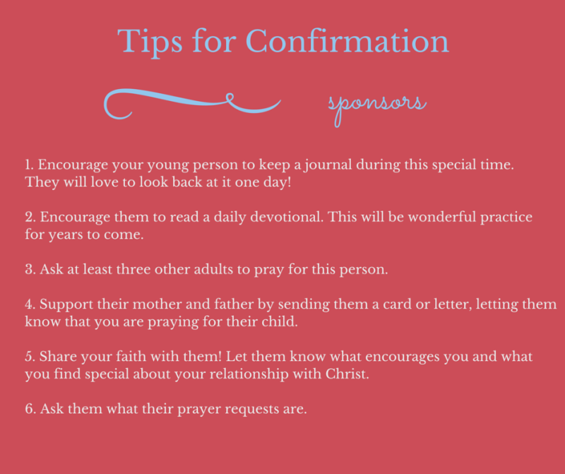 confirmation gifts tips for being a great confirmation sponsor and a giveaway