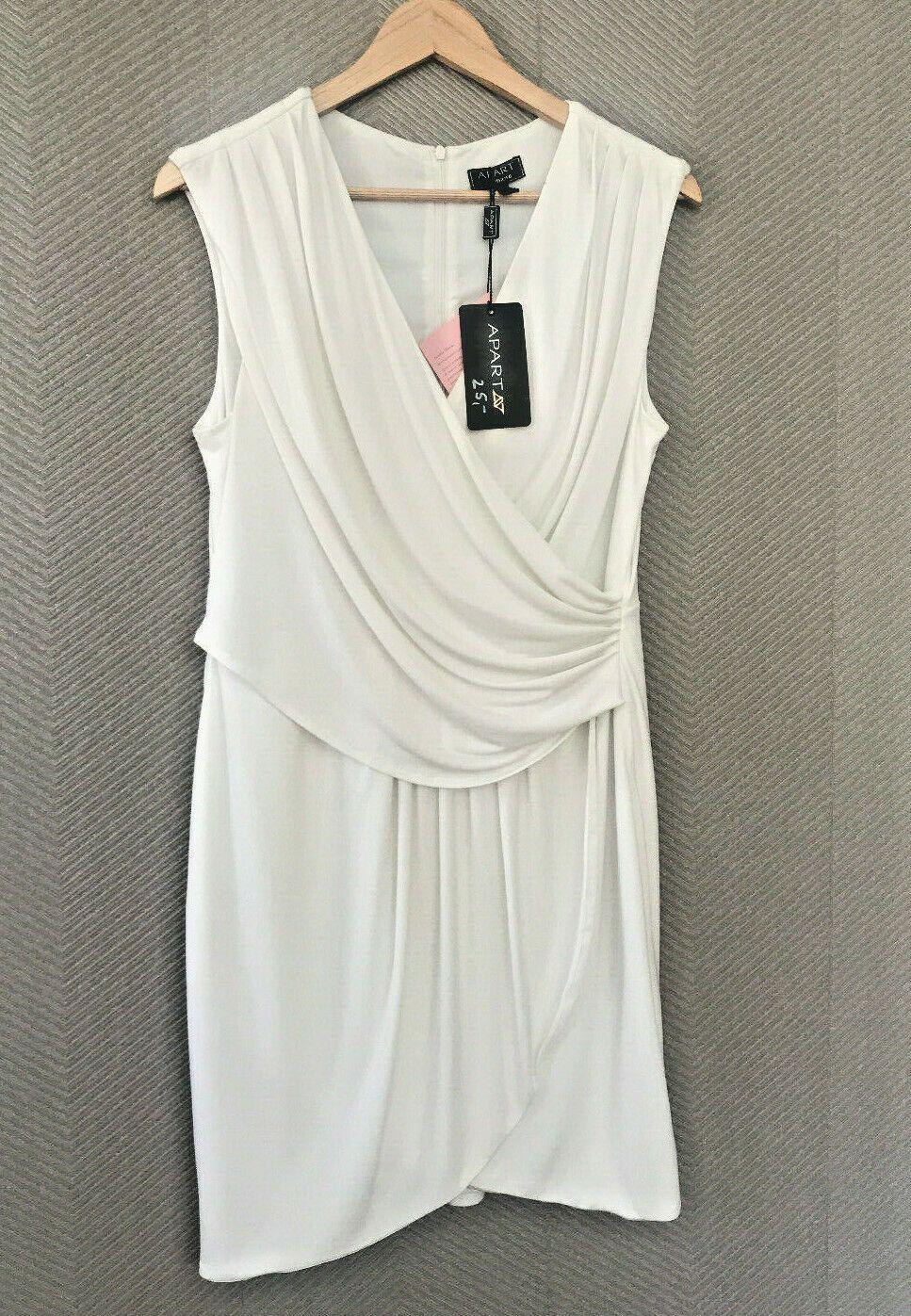 Apart Kleid weiss weiß Größe 17 Material: Polyester/Elasthan