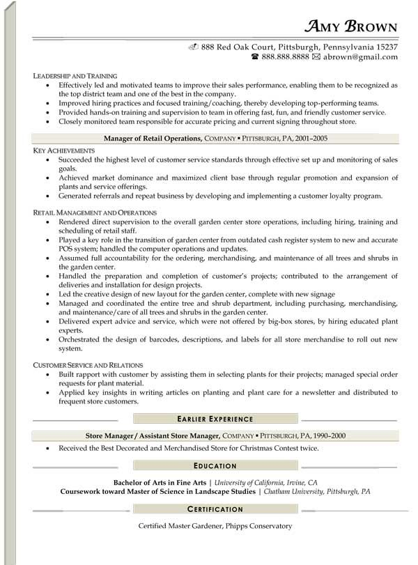 retail fashion resume best example samples sample resumes - sample resumes retail