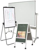 Portable Easels: Markerboard and Chalkboard Stands with Wheels