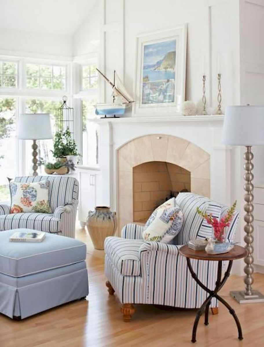 Comfy coastal living room decorating ideas (61 | Coastal living ...