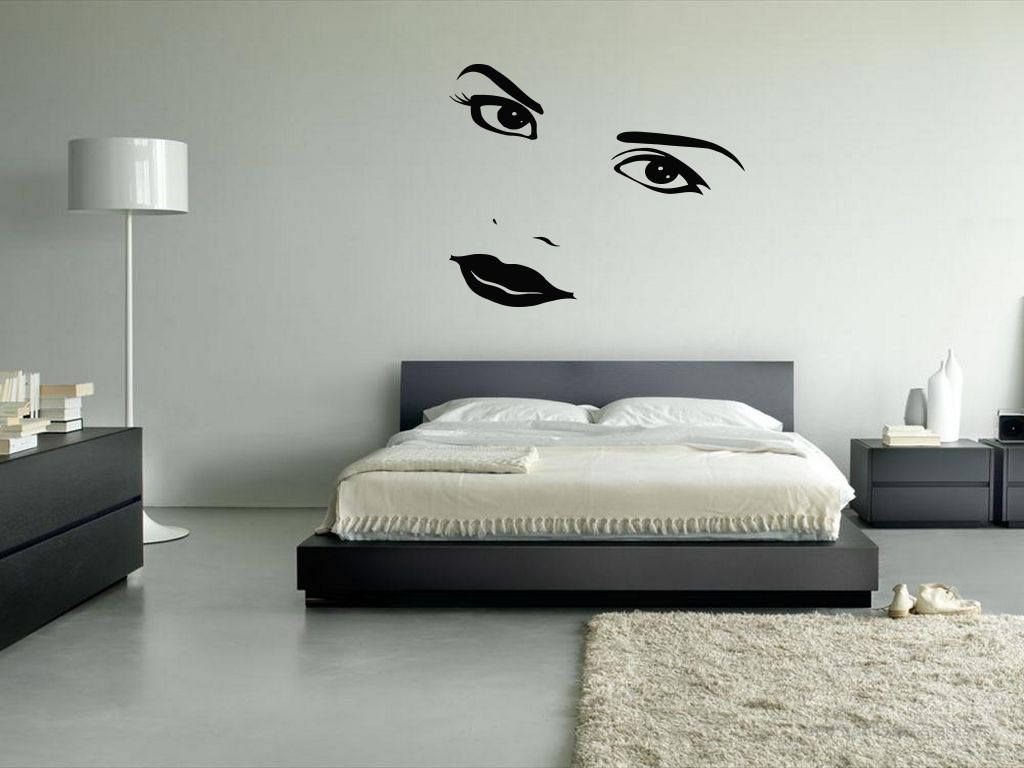 Wall vinyl sticker decals mural room design pattern art face woman