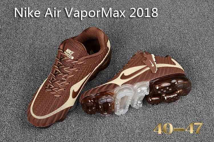 Nike Air Vapormax 2018 Men Brown Beige Nike Air Shoes Nike Air Nike Shoes Air Max