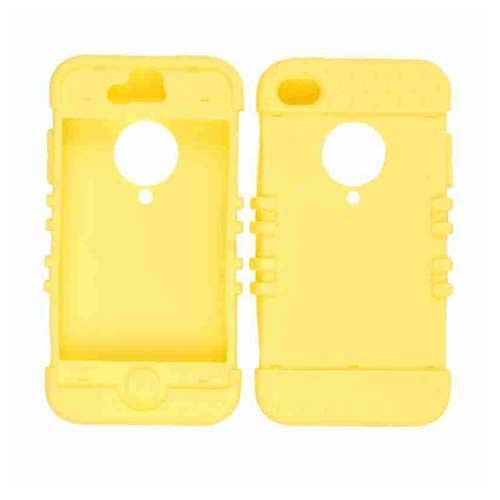 Unlimited Cellular Rocker Series Skin Case for Apple iPhone 4/4S (Light Yellow)